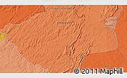 """Political 3D Map of the area around 17°30'31""""S,29°49'30""""E"""