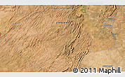 """Satellite 3D Map of the area around 17°30'31""""S,29°49'30""""E"""