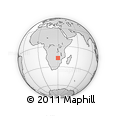 Outline Map of St. Rupert Mayer Missionary Station, rectangular outline