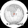 Outline Map of Mutoko, rectangular outline