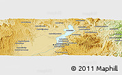 """Physical Panoramic Map of the area around 17°30'31""""S,48°31'29""""E"""