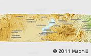 Physical Panoramic Map of Morarano