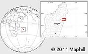 Blank Location Map of Vohibinany