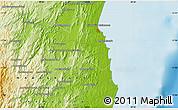 Physical Map of Ambodihazomamy