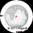 "Outline Map of the Area around 17° 30' 31"" S, 50° 13' 30"" E, rectangular outline"