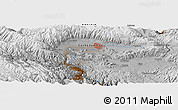 "Physical Panoramic Map of the area around 17° 30' 31"" S, 66° 13' 29"" W"