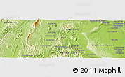 """Physical Panoramic Map of the area around 18°21'26""""N,102°4'29""""E"""
