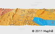 """Political Panoramic Map of the area around 18°21'26""""N,102°4'29""""E"""