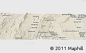 """Shaded Relief Panoramic Map of the area around 18°21'26""""N,102°4'29""""E"""