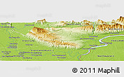 Physical Panoramic Map of Ban Dôngbông