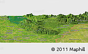 Satellite Panoramic Map of Ban Dôngbông