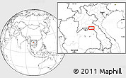 """Blank Location Map of the area around 18°21'26""""N,103°46'30""""E"""