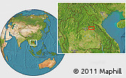 """Satellite Location Map of the area around 18°21'26""""N,103°46'30""""E"""