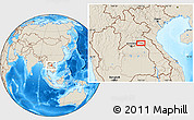"""Shaded Relief Location Map of the area around 18°21'26""""N,103°46'30""""E"""