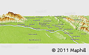 """Physical Panoramic Map of the area around 18°21'26""""N,103°46'30""""E"""
