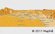 """Political Panoramic Map of the area around 18°21'26""""N,103°46'30""""E"""