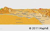 Political Panoramic Map of Ban Nampa