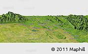 Satellite Panoramic Map of Ban Nampa