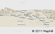 Shaded Relief Panoramic Map of Ban Nampa