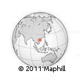 Outline Map of Sanya, rectangular outline