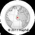 Outline Map of Lekhcheb, rectangular outline