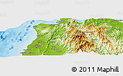 """Physical Panoramic Map of the area around 18°21'26""""N,120°46'30""""E"""