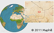 """Satellite Location Map of the area around 18°21'26""""N,1°46'29""""E"""