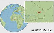 "Savanna Style Location Map of the area around 18°21'26""N,1°46'29""E"