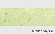 """Physical Panoramic Map of the area around 18°21'26""""N,1°46'29""""E"""