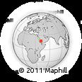 Outline Map of Maghabb, rectangular outline