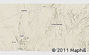 """Shaded Relief 3D Map of the area around 18°21'26""""N,43°25'29""""E"""