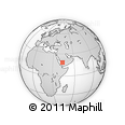 """Outline Map of the Area around 18° 21' 26"""" N, 43° 25' 29"""" E, rectangular outline"""