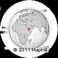 Outline Map of Al Jawf, rectangular outline