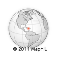 Outline Map of Jacmel, rectangular outline
