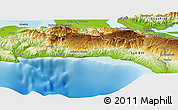 """Physical Panoramic Map of the area around 18°21'26""""N,72°10'30""""W"""