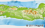 """Physical 3D Map of the area around 18°21'26""""N,73°1'30""""W"""