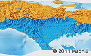 """Political 3D Map of the area around 18°21'26""""N,73°52'30""""W"""