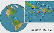 """Satellite Location Map of the area around 18°21'26""""N,73°52'30""""W"""