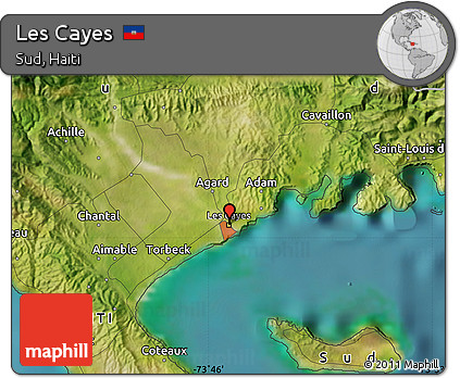 Free Satellite Map of Les Cayes