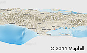 """Shaded Relief Panoramic Map of the area around 18°21'26""""N,73°52'30""""W"""