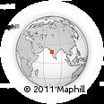 Outline Map of Pune, rectangular outline