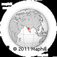 Outline Map of Baramati, rectangular outline