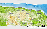 """Physical 3D Map of the area around 18°21'26""""N,77°16'30""""W"""