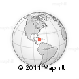 """Outline Map of the Area around 18° 21' 26"""" N, 77° 16' 30"""" W, rectangular outline"""