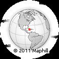 Outline Map of Jamaica, rectangular outline