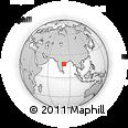 Outline Map of Chitrakonda, rectangular outline