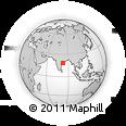 Outline Map of Bandamāmidi, rectangular outline