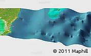 "Satellite Panoramic Map of the area around 18°21'26""N,87°28'29""W"