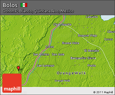Physical 3D Map of Bolos