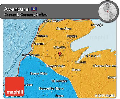 Political 3D Map of Aventura